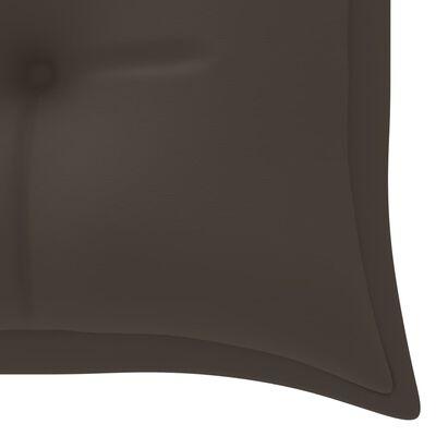 vidaXL Trädgårdsbänk med taupe dyna 150 cm massiv teak