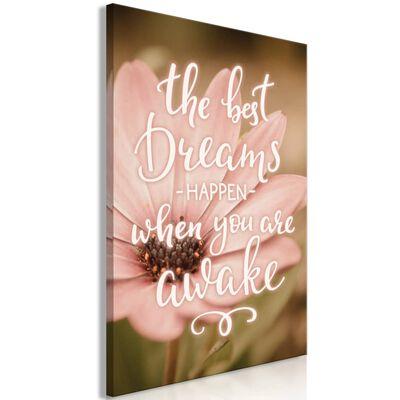 Tavla - The Best Dreams Happen When You Are Awake - 40x60 Cm,