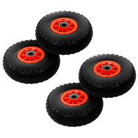 vidaXL Hjul för säckkärra 4 st massiv PU 3.00-4 (260x85)