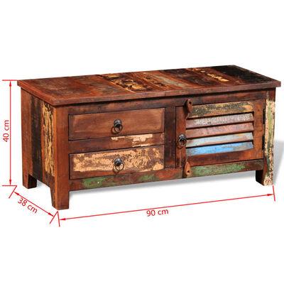 vidaXL TV-bänk Hi-Fi sidoskåp återvunnet massivt trä
