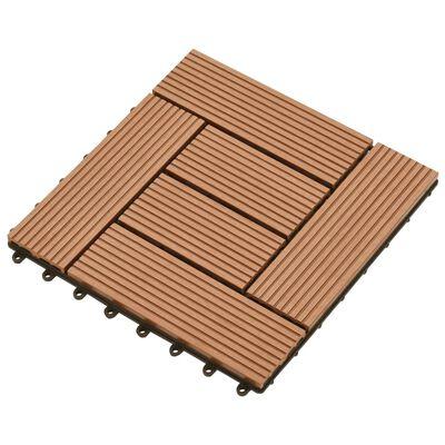 vidaXL Trall 22 st 30x30 cm 2 kvm WPC brun