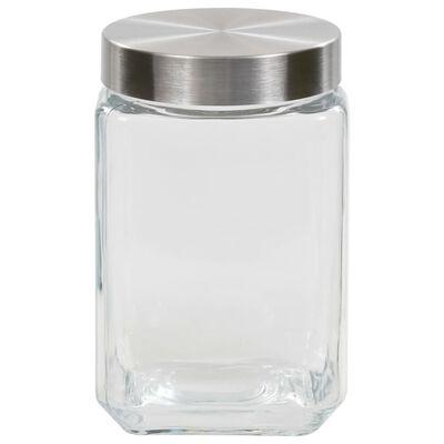 vidaXL Förvaringsburkar i glas med korklock 6 st 800/1200/1700 ml