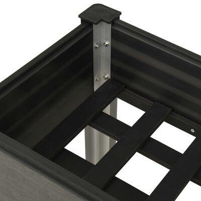 vidaXL Odlingslåda upphöjd 100x40x75 cm WPC grå
