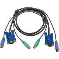ATEN, KVM-kablage, 2xPS/2 ha-ha och 1xHD15 ha-ho, 5m