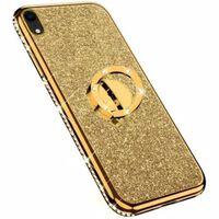 iPhone XR Stötdämpande Skal med Ringhållare Strass