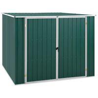 vidaXL Trädgårdsskjul grön 195x198x159 cm galvaniserat stål
