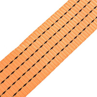 vidaXL Lastspännare 10 st 2 ton 8 m x 50 mm orange