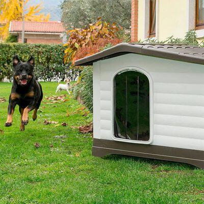 Ferplast Hundkoja Villa 90 grå 88x72x65 cm 87255099