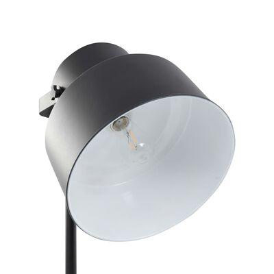vidaXL Golvlampa metall svart E27