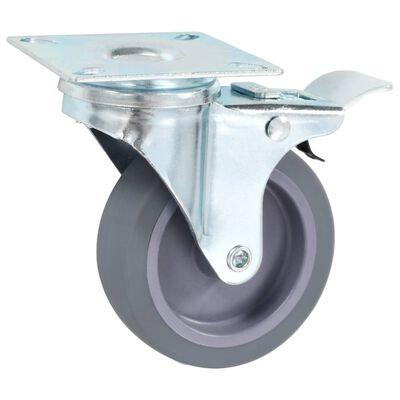 vidaXL Länkhjul med dubbla bromsar 4 st 75 mm