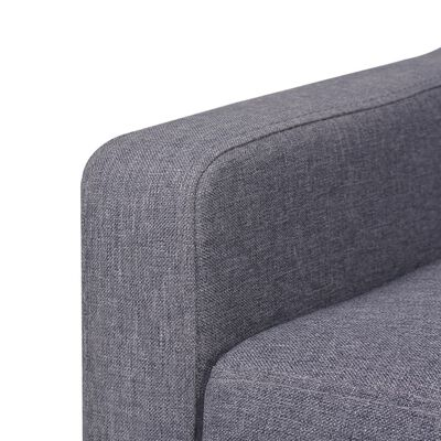vidaXL 2-sitssoffa i tyg grå