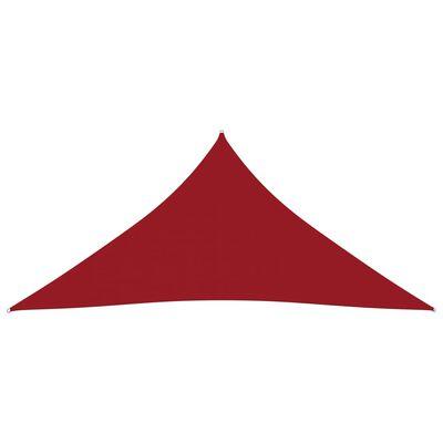 vidaXL Solsegel oxfordtyg trekantigt 3x3x3 m röd