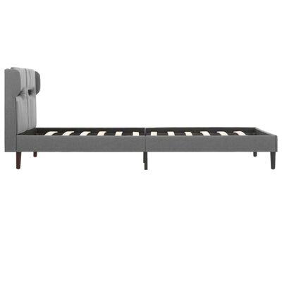 vidaXL Sängram med LED grå tyg 120x200 cm