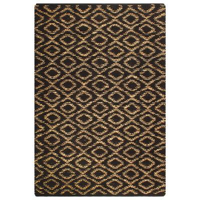 vidaXL Matta handvävd jute 120x180 cm beige och svart