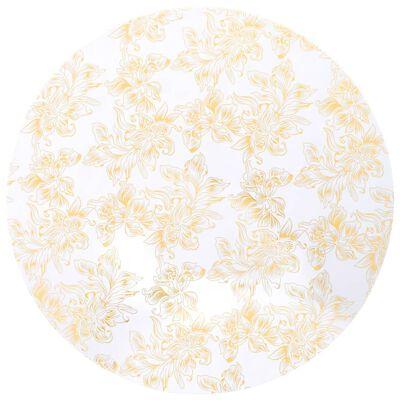vidaXL 2 st bordsöverdrag stretch 80 cm vit med guldtryck