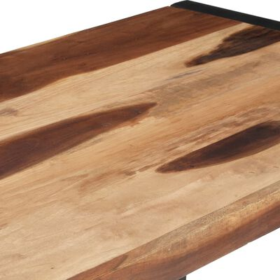 vidaXL Matbord 120x60x75 cm massivt trä med sheshamfinish