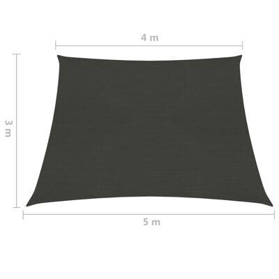 vidaXL Solsegel 160 g/m² antracit 4/5x3 m HDPE