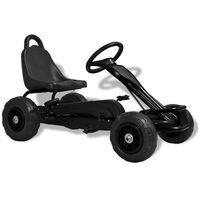 vidaXL Pedaldriven gokart med luftfyllda däck svart