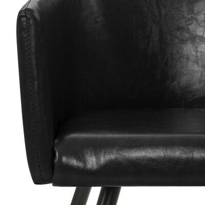 vidaXL Matstolar 2 st svart konstläder