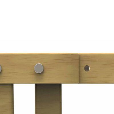 Noma Barngrind justerbar 63,5-106 cm trä naturlig 93729