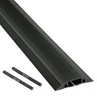 D-LINE Kabelkanal Golv PVC Pro Svart 1.8m