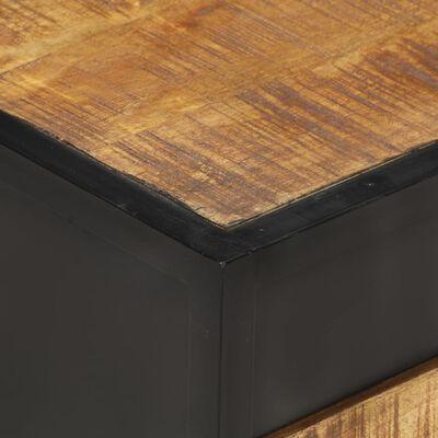 vidaXL Sängbord 40x40x35 cm grovt mangoträ