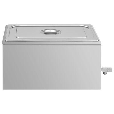 vidaXL Varmhållningskärl vattenbad rostfritt stål 1500 W GN 1/1
