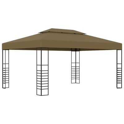 vidaXL Paviljong 3x4 m taupe 180 g/m²