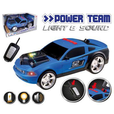 Happy People Leksaksbil Key Racer 28cm blå