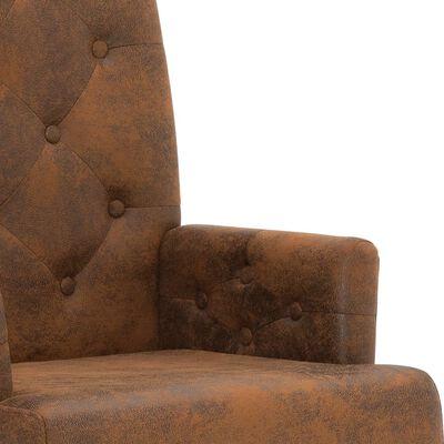 vidaXL Matstolar 2 st brun konstmocka