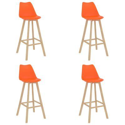 vidaXL Bargrupp 5 delar orange