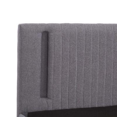 vidaXL Sängram med LED ljusgrå tyg 180x200 cm