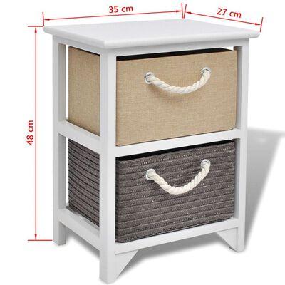 vidaXL Nattduksbord trä 2 st