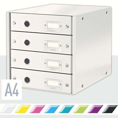 Leitz Skrivbordsbyrå WOW vit 4 lådor