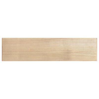 vidaXL Konsolbord svart 120x30x76 cm MDF