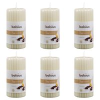 Bolsius Ribbade blockljus med doft 6 st 120x58 mm vanilj