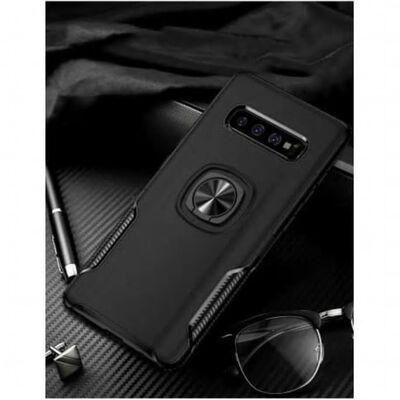 Samsung S10e Praktisk Stöttåligt Skal med Ringhållare V5 (SM-G970F)