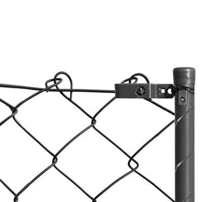 vidaXL Flätverksstängsel med stolpar och hårdvara 1,25x25 m grå
