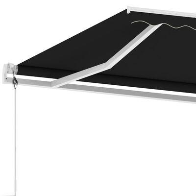 vidaXL Fristående markis automatisk 450x300 cm antracit