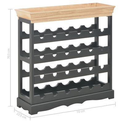 vidaXL Vinskåp svart 70x22,5x70,5 cm MDF