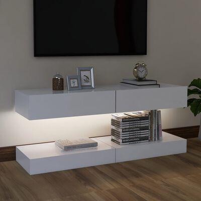 vidaXL TV-bänk med LED-belysning 2 st vit 60x35 cm