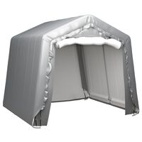 vidaXL Förvaringstält 240x240 cm stål grå