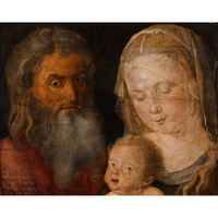 The Holy Family,Albrecht Durer,30.5x38.7cm
