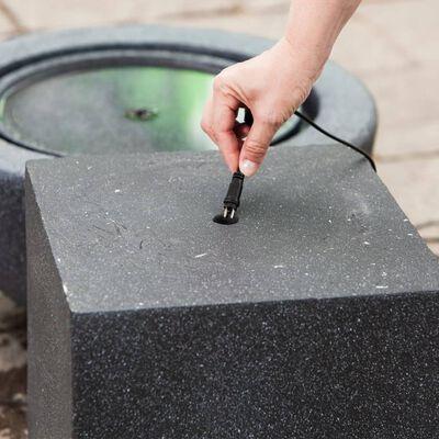 HEISSNER Fontänbas kub 31x31x31 cm svart