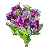 2- pack Blomsterbukett i plast, Rosor - Lila