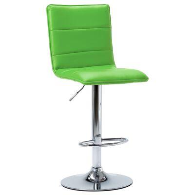 vidaXL Barstol grön konstläder, Green