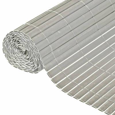 Nature Dubbelsidigt insynsskydd PVC 1x3m grå