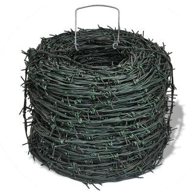 vidaXL Taggtråd 100 m grön