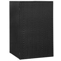 vidaXL Skjul för soptunna svart 76x78x120 cm konstrotting