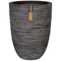 Capi Vas Nature Rib elegant låg 36x47 cm antracit KOFZ782